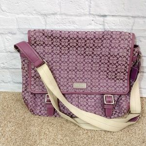 Coach | Purple Messenger Laptop Bag